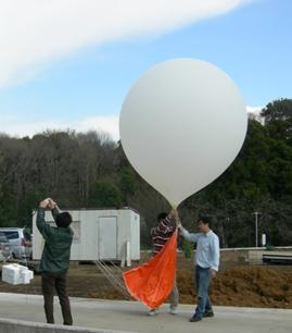 Launching of balloon-borne CO2 sonde