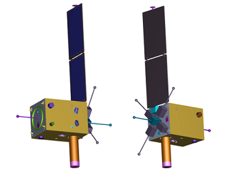 compact satellite with the common bus system
