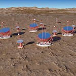 The CTA project for gamma ray astronomy. A Cherenkov telescope array is used.