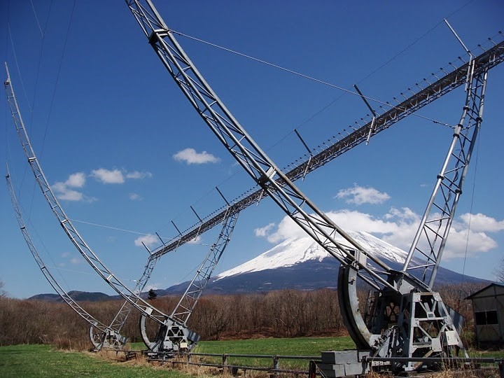 Radiotelescope at Fuji Observatory