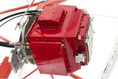 The GCT camera prototype mounted on the GCT prototype telescope.