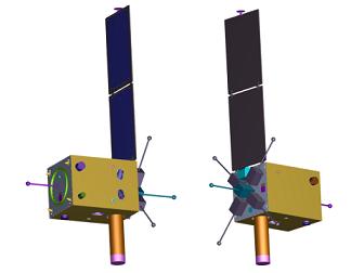 将来の宇宙探査計画を想定した100~200kg級の超小型衛星標準バス開発による探査機形態例